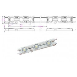 Chapelet 6 Modules de 3 LED IP67 - 20 LM - 60