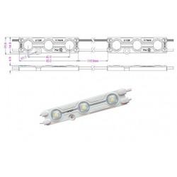 Chapelet 6 Modules de 3 LED IP67 - 20 LM - 60