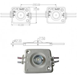 Chapelet 20 Modules IP67 - 120 LM - 60