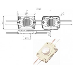 Chapelet 15 Modules IP67 - 200 LM - 60